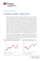 Canada oil data – April 2013 cover image