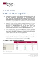 China oil data – May 2013 cover image