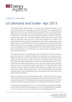 US demand and trade– Apr 2013 cover image