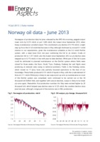 Norway oil data – June 2013 cover image
