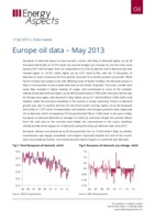 Europe oil data – May 2013 cover image