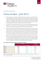 China oil data – June 2013 cover image