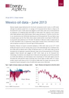 Mexico oil data – June 2013 cover image
