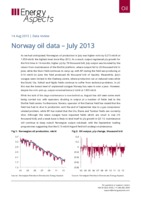 Norway oil data – July 2013 cover image