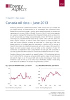 Canada oil data – June 2013 cover image
