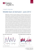 Middle East oil demand - June 2013 cover image