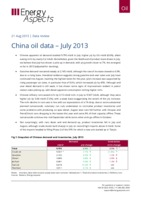 China oil data – July 2013 cover image
