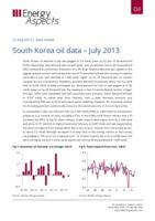 South Korea oil data – July 2013 cover image