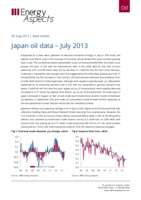 Japan oil data – July 2013 cover image