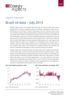 Brazil oil data - July 2013 cover image