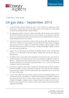 UK gas data – September 2013 cover image