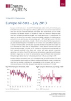 Europe oil data – July 2013 cover image