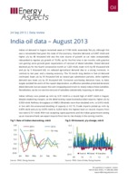 India oil data – August 2013 cover image