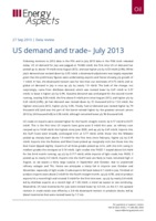 US demand and trade - July 2013 cover image