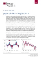 Japan oil data – August 2013 cover image