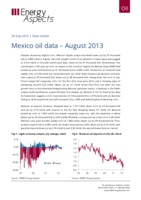 Mexico oil data - August 2013 cover image