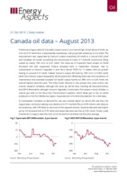 Canada oil data – August 2013 cover image