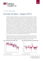 Europe oil data – August 2013 cover image