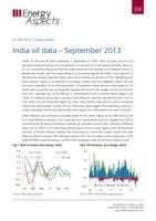 India oil data – September 2013 cover image