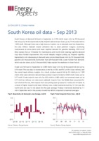 South Korea oil data – Sep 2013 cover image