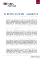 US demand and trade – August 2013 cover image