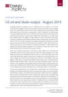 US oil and shale output - August 2013 cover image