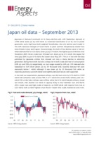 Japan oil data – September 2013 cover image