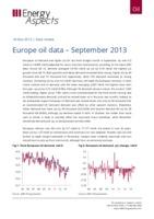 Europe oil data – September 2013 cover image