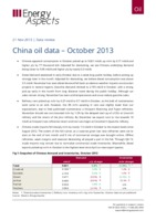 China oil data – October 2013 cover image