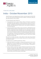 India gas data - October/November 2013 cover image