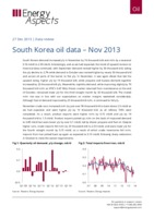 South Korea oil data – Nov 2013 cover image