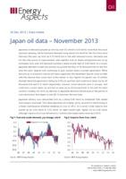 Japan oil data – November 2013 cover