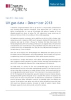 UK gas data – December 2013 cover image