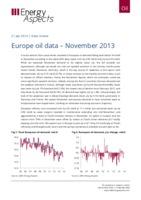 Europe oil data – November 2013 cover image