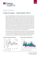 India oil data – December 2013 cover image