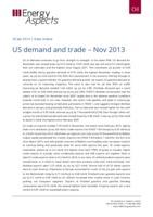 US demand and trade – Nov 2013 cover image