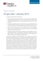 UK gas data – January 2014 cover image