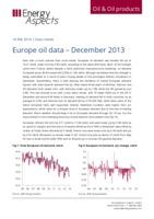 Europe oil data - December 2013 cover image