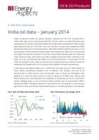 India oil data - January 2014 cover image