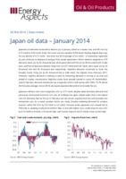 Japan oil data – January 2014 cover image