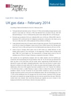 UK gas data – February 2014 cover image
