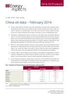 China oil data – February 2014 cover image
