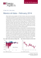 Mexico oil data – February 2014 cover image