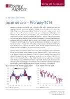Japan oil data - February 2014 cover image