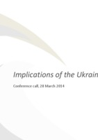 Implications of the Ukraine crisis (conference call) cover image