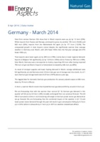 Germany gas data – March 2014 cover