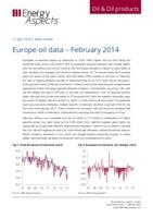 Europe oil data – February 2014 cover image