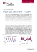 Middle East oil demand – Feb 2014 cover image