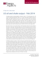 US oil and shale output – Feb 2014 cover image