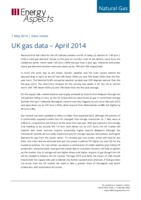 UK gas data – April 2014 cover image